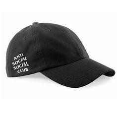 15c60424c92f8 Anti Social Social Club chapeau papa chapeau noir par SXApparel Black  Baseball Cap