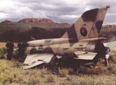 Angolan MiG-21bis shot down by South African forces, Angolan Bush War.