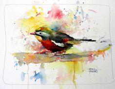 The Watercolour Log: Watercolour Paintings Watercolor Bird, Watercolor Animals, Watercolor Paintings, Artist Painting, Watercolours, Bird Pictures, Butterfly Art, Paintings I Love, Illustrations