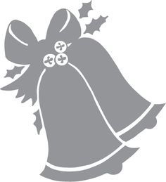Glass etching stencil of Christmas Bells. In category: Christmas