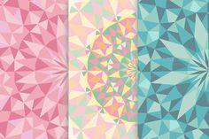 11 circular polygonal backgrounds by Spasibenko Art on Creative Market