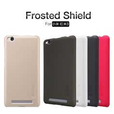 xiaomi redmi 3 case NILLKIN Super Frosted Shield back cover for redmi3 hongmi 3 with free screen protector and Retail package