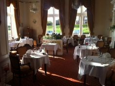 Our Devonshire room set as an intermate restaurant
