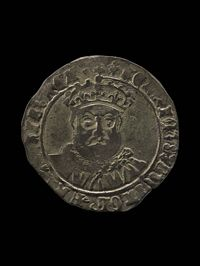 A silver 'testoon' from the reign of King Henry VIII.