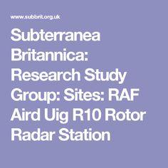 Subterranea Britannica: Research Study Group: Sites: RAF Aird Uig R10 Rotor Radar Station