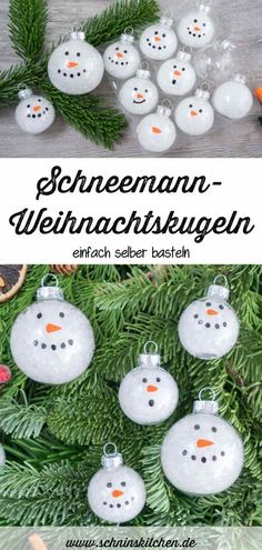 DIY Schneemann-Weihnachtskugeln basteln DIY snowman Christmas baubles - just make pretty tree decorations yourself and paint Christmas baubles as snowmen - great for the Christmas tree, the Christmas decoration or as a gift tag Christmas Wrapping, Christmas Baubles, Christmas Snowman, Xmas, Tree Decorations, Christmas Decorations, Holiday Decor, Diy And Crafts, Crafts For Kids