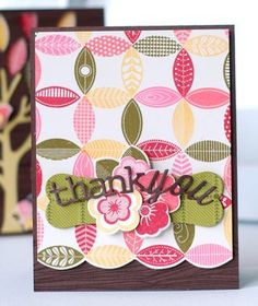 Leafy Thank You Card by Betsy Veldman for Papertrey Ink (August 2013)