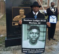 "Hugh Stewart, a veteran of ""Bloody Sunday,"" remembers Jimmie Lee Jackson in Marion, Alabama. (Photo: Ari Berman)"