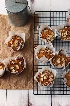 carrot apple and ginger muffins