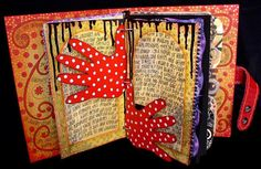 Ingrid Dijkers Wearable collage, Art Dolls, altered books,collage and art journals