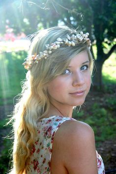 MERMAIDs delight Succulent shell pearl  by naturallyinspired, $49.00 Perfect Beach Wedding Hair