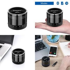 Mini Portable Rechargeable Bluetooth Speaker With Microphone For Tablet Laptops
