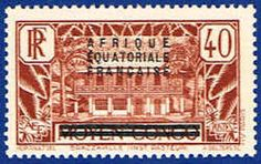 French Equatorial Africa 19 Stamp - Middle Congo Stamp - AF FEA 19-1 MH