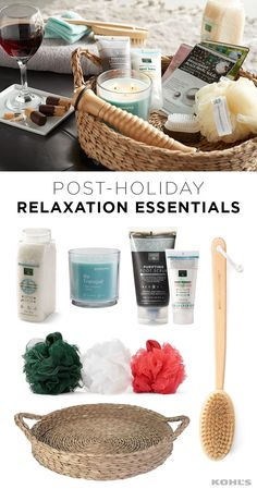 "The holidays are stressful. Treat your mind and body to a relaxing spa day (trust us, you've earned it!) Featured product includes: SONOMA Goods for Life sea grass decorative tray and 14-oz. ""be tranquil"" jar candle; Earth Therapeutics back brush, Sea of Tranquility anti-stress bath soak, Charcoal Detox purifying foot scrub  and 3-pack Hydrobody sponges. Get healthy and de-stressed in 2017 with Kohl's."