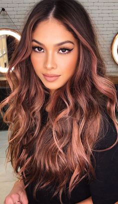 Red Brown Hair Color, Hair Color Auburn, Ombre Hair Color, Hair Color For Black Hair, Burgundy Hair, Women's Hair Colors, Red Black Hair, Hair Colors For Fall, Fall Red Hair