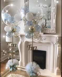 56 Amazing Balloon Decor Ideas for All Celebration Balloons can be one of the most inexpensive and simple decoration for any party, weddings or holiday celebrations. Shower Party, Baby Shower Parties, Baby Shower Themes, Baby Boy Shower, Baby Shower Balloon Decorations, Balloon Garland, Baby Shower Ideas For Boys Decorations, Boy Baby Showers, Cloud Baby Shower Theme