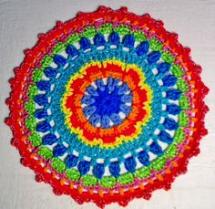 Rainbow by CollectInTexasGal on Etsy Mandala Rug, Table Centers, Table Centerpieces, Rainbow, Blanket, Rugs, Unique Jewelry, Handmade Gifts, Crochet