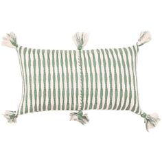 Archive New York Antigua - Dusty Green Pillow Dusty Green / White By (195 CAD) ❤ liked on Polyvore featuring home, home decor, throw pillows, outdoor home decor, white accent pillows, white throw pillows, outdoor toss pillows and outside home decor