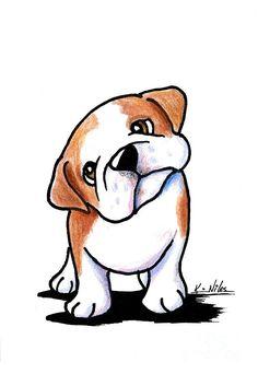 Curious Bulldog Drawing