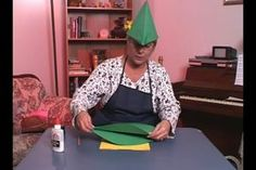 Video: How to Make a Paper Robin Hood Hat  I used these as elf hats for the boys at my daughter's fairy birthday party.