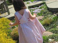smocked wrap-around sundress