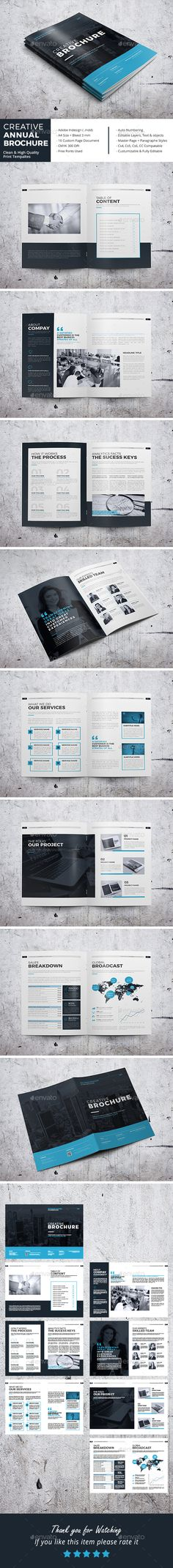 Creative Annual Brochure Template InDesign INDD