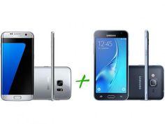 Samsung Galaxy S7 Edge 32GB Prata 4G - Câm. 12MP + Samsung Galaxy J3 Duos 8GB Preto com as melhores condições você encontra no Magazine Jbtekinformatica. Confira!