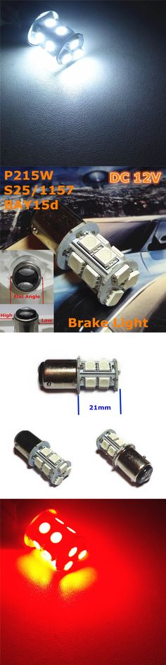 Stock Shipping New 12V LED Car Lamp P21/5W S25/1157 BAY15d High/Low Flat Angle Double Pad(13*5050SMD)For Brake Light