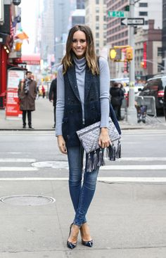 """50 Shades of Blue: How To Pull Off Tonal Layering"" 