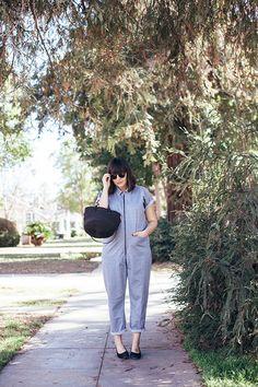29 weeks maternity style, wearing a rachel comey jumpsuit, clare v. petit kenya bag, maryam nassir zadeh roberta heels, and illesteva leonard sunglasses!