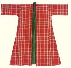 1800 tartan wool banyan lined in bottle green silk Christies