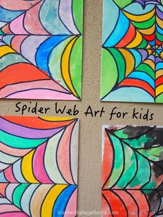 Spider Web Art for Kids Spider Web Art for Kids. This would be a great project for a special needs art class. Practice painting within the lines to make their own unique web. Get all the directions at: www. Halloween Art Projects, Fall Art Projects, Halloween Arts And Crafts, Halloween Artwork, Art Plastique Halloween, Special Needs Art, Spider Art, Spider Webs, Spider Crafts