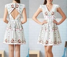 edcef4863 Выкройка летнего платья с открытой спиной (Шитье и крой) — Журнал  Вдохновение Рукодельницы
