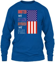 Divided We Fall, United We Stand, Be True To Yourself, Red White Blue, Hoodies, Sweatshirts, Patriots, How Are You Feeling, Mugs