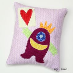 Sizzix Quilting Tutorial | Monster Tooth Fairy Pillow by Karin Jordan