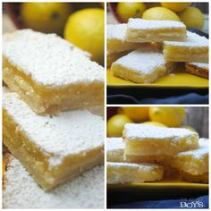 These old-fashioned lemon bars will quickly become a family favorite.  These are the perfect dessert for a picnic or potluck.