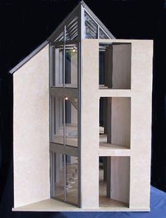If It's Hip, It's Here (Archives): Mark Turpin's Pine Island: Architecture In Miniature Stone Texture Wall, Unique Floor Plans, Limestone Wall, Pine Island, Space Frame, Modern Dollhouse, Miniature Houses, Cool House Designs, Modern Buildings