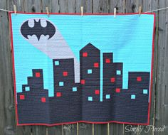 Modern Batman Quilt by Janet of Simply Pieced