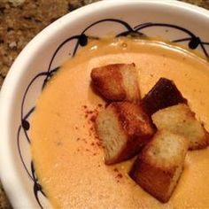 """Bachelor's Creamy Pumpkin Soup 