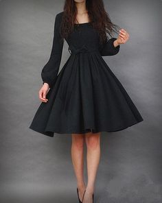 "LBD with a ""twirl"" skirt"
