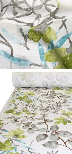Gazebo, Cloud 54 wide 55% Linen / 45% Rayon From the My Garden Grows collection by Braemore
