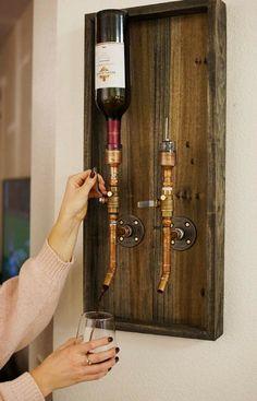 Handmade Liquor Dispenser   Whiskey Dispenser   Wine Dispenser   Gift for Him   Bar Accessory   SteadfastDesignCo Etsy #kitchen #ad #etsy #wine #whiskey #whisky