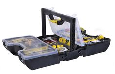 Stanley 3-in-1 Portable Small Parts Tools Box Organizer Power Tool Carry Case #Stanley