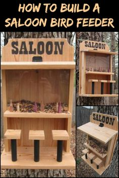 Invite Birds to Your Yard with This Awesome Saloon Bird Feeder Made of Scrap Timber!