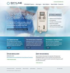 Web Design and Development by Windmill Design for Skyline Medical