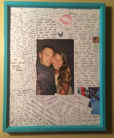 Letters from boot camp modge podge it on the frame