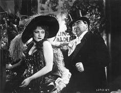Marlene Dietrich and Kurt Gerron in The Blue Angel