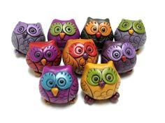 Hollow Polymer Clay Owl Bead | by Orly Fuchs Galchen