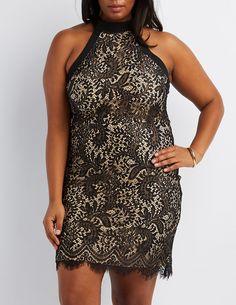 2e5e43df3cb Plus Size Lace Sleeveless Bodycon Dress