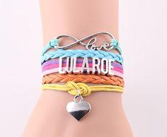 infinity love Lularoe Bracelet heart charm leather wrap handmade bracelets bangles for women
